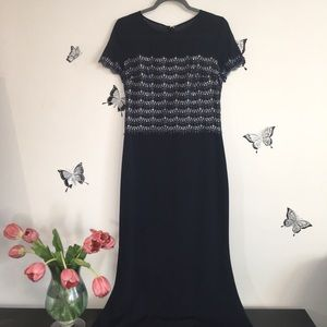 St. John Maxi Evening Silk Dress